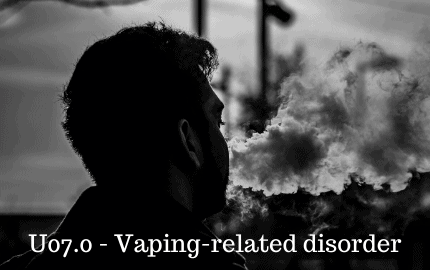 ICD 10 code for vaping