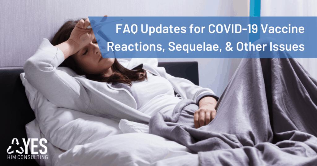 Covid-19 immunization reactions